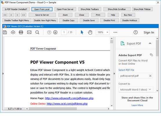 Screenshot von Edraw PDF Viewer Component