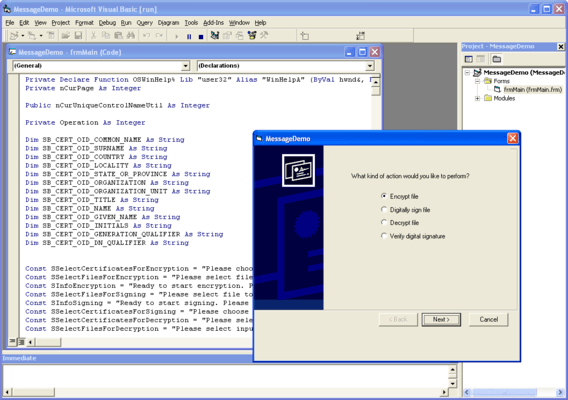 Screenshot of SecureBlackbox ActiveX Transports - In-house