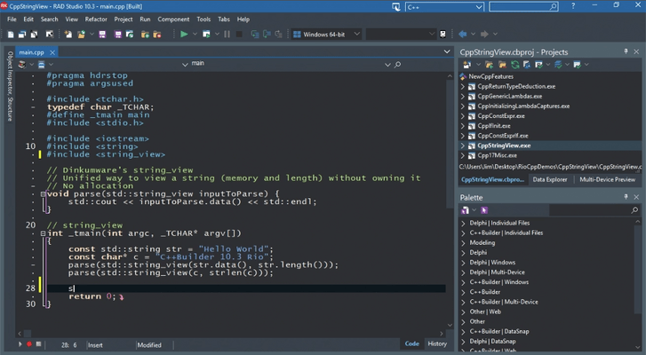 Screenshot of C++Builder Professional