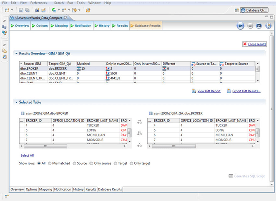 Screenshot of DB Change Manager Multiplatform