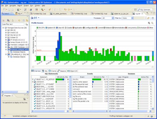 Captura de tela do DB Optimizer Multiplatform