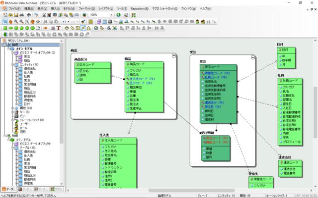 ER/Studio Data Architect(日本語版) のスクリーンショット