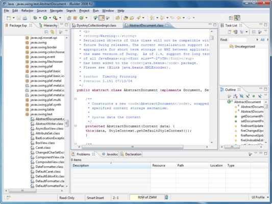 Screenshot of JBuilder Enterprise