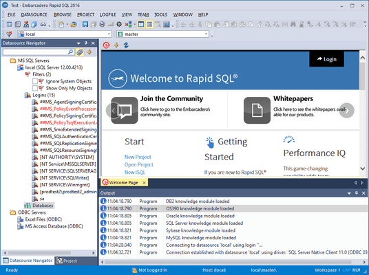 Screenshot of Rapid SQL for Sybase