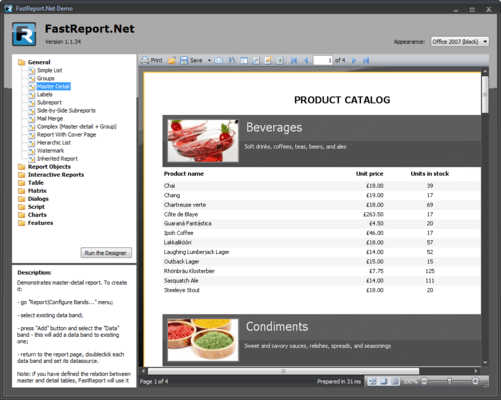 Screenshot of FastReport.Net Basic