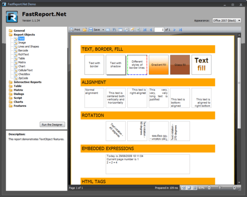 Screenshot of FastReport.Net Professional