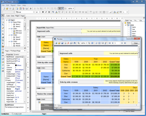 Screenshot von FastReport VCL Enterprise Edition