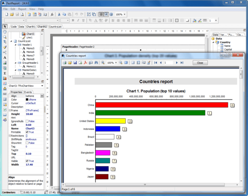 Screenshot of FastReport VCL Standard Edition