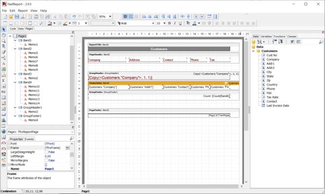 Screenshot von FastReport VCL Professional Edition