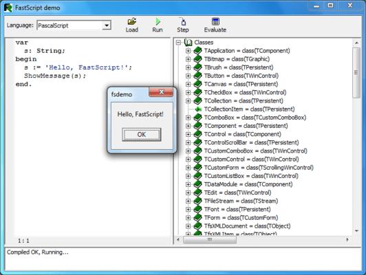 FastScript(英語版) のスクリーンショット