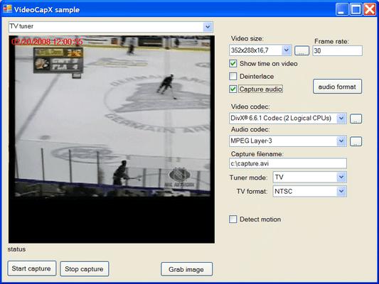 Screenshot of VideoCapX