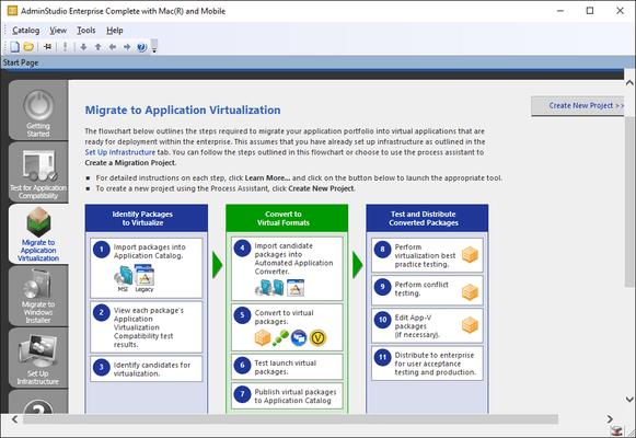 Captura de tela do AdminStudio Enterprise