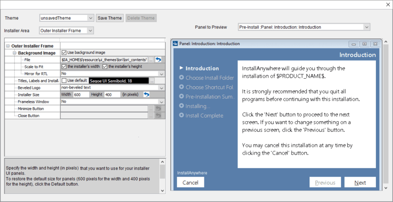 Screenshot of InstallAnywhere