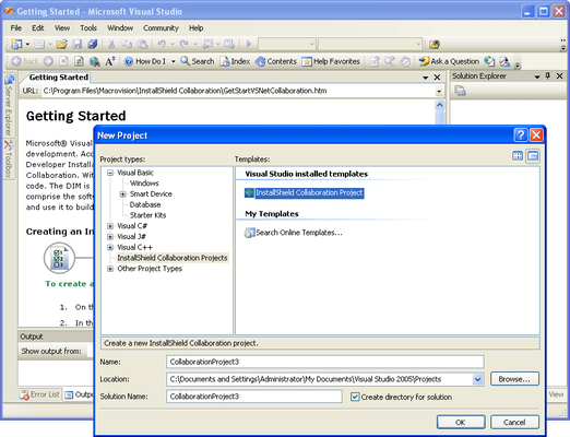 Screenshot of InstallShield Collaboration