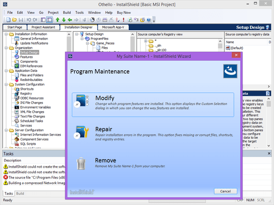 Screenshot of InstallShield Premier