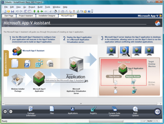 Screenshot von Installshield Professional with Virtualization Pack