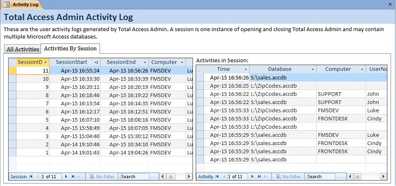 Screenshot of Total Access Admin