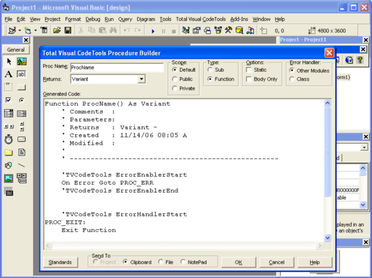 Screenshot of Total Access CodeTools - for Microsoft Access 97
