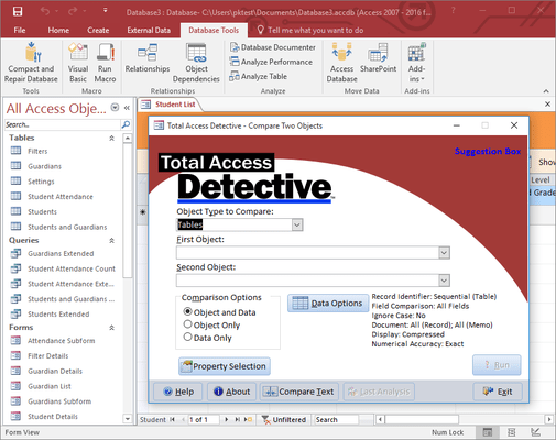 Screenshot of Total Access Detective