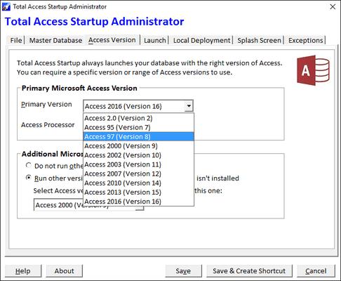 Captura de tela do Total Access Startup