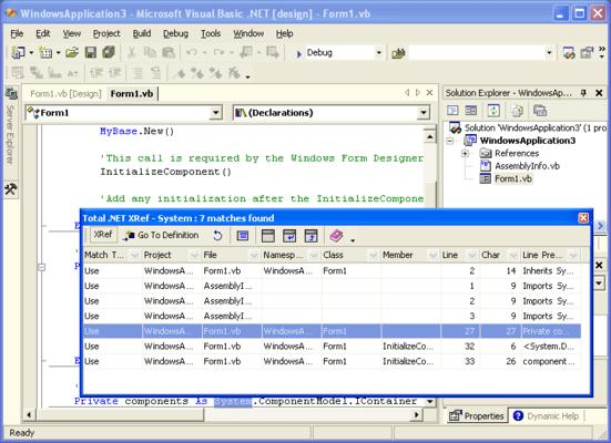 Total .NET Xref - for Visual Studio 2002/2003 的螢幕截圖