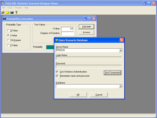 Screenshot of Total SQL Statistics - for SQL Server 7.0/2000