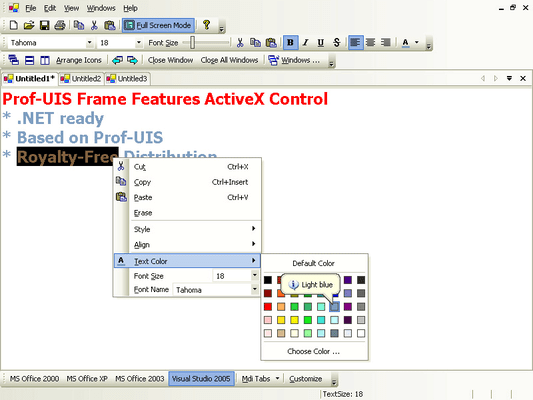 About Prof-UIS Frame Features