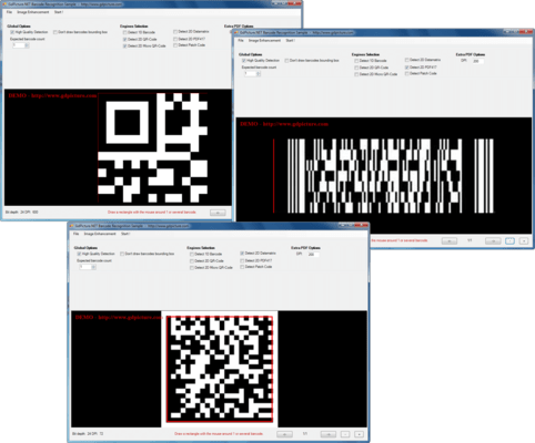 GdPicture.NET 2D Barcode Reader and Writer Plugin のスクリーンショット