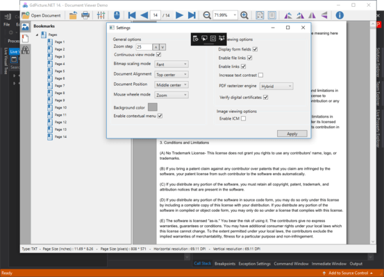 Screenshot of GdPicture.NET Document Imaging SDK