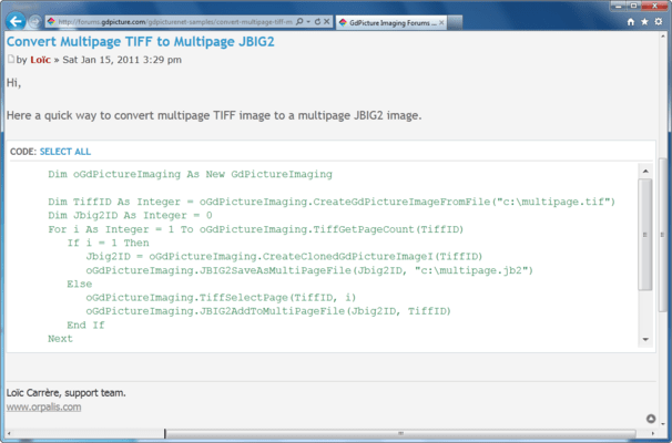 Capture d'écran de GdPicture.NET JBIG2 Encoder Plugin