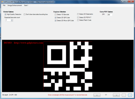 GdPicture.NET QR-Code Reader And Generator Plugin のスクリーンショット