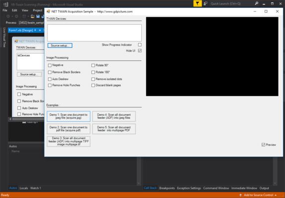 Screenshot of GdPicture.NET TWAIN SDK