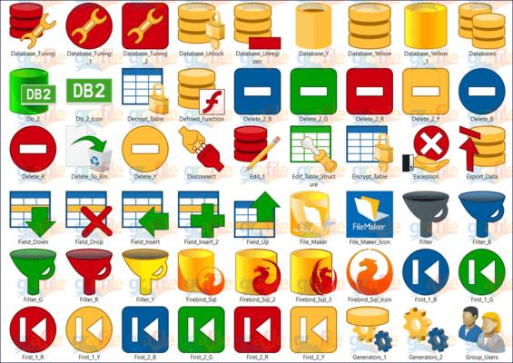 Screenshot of Grafile Database Bonus Icon Collection