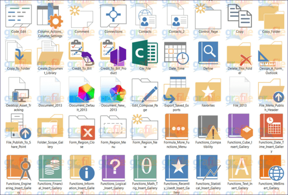 Screenshot of Grafile Office Bonus Icon Collection