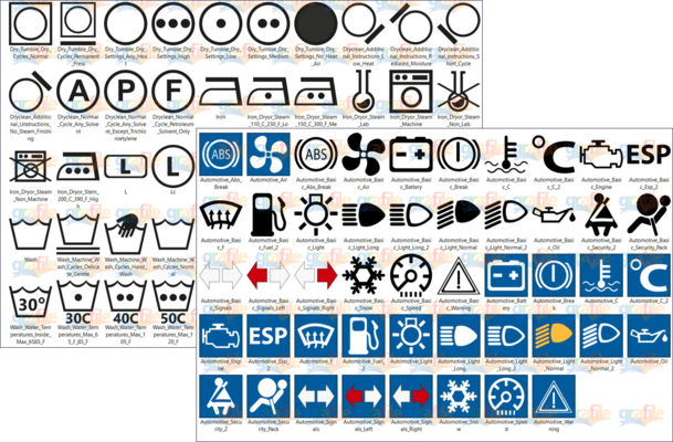Screenshot of Grafile Official Signs Icons Bonus Collection