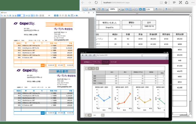 ActiveReports for .NET Professional(日本語版) のスクリーンショット