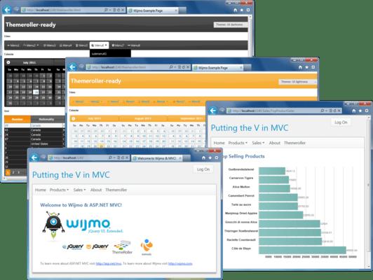 ComponentOne Studio ASP.NET MVC(英語版) のスクリーンショット