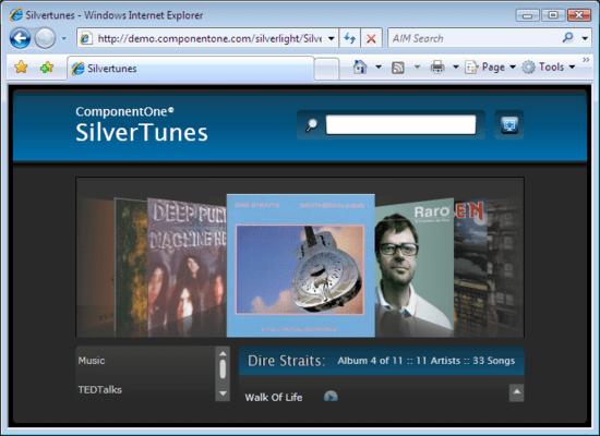 ComponentOne Studio Silverlight(英語版) のスクリーンショット