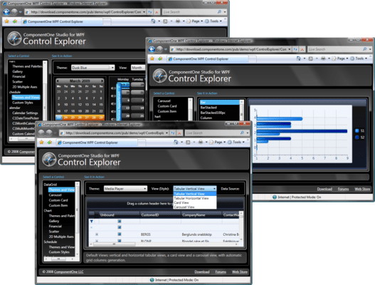 Screenshot of ComponentOne Studio WPF