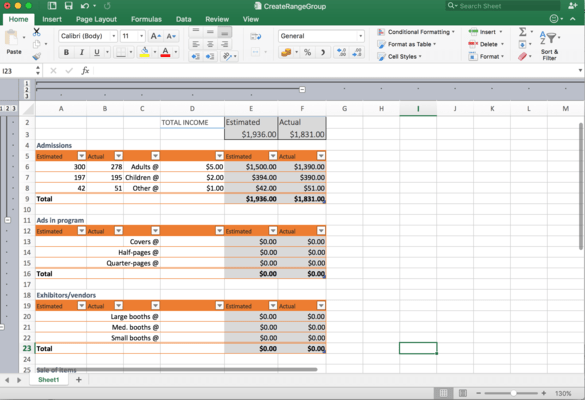 Capture d'écran de GrapeCity Documents for Excel, .NET Edition