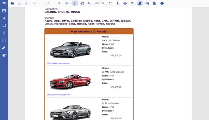 Captura de pantalla de GrapeCity Documents for PDF