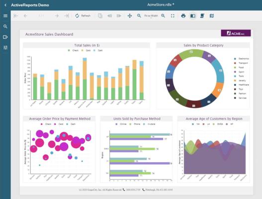 Screenshot of GrapeCity PowerSuite