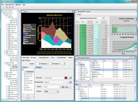 JClass DesktopViews(英語版) のスクリーンショット