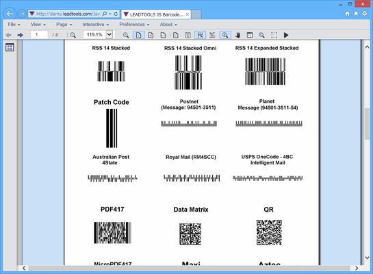 LEADTOOLS Barcode Pro(日本語版) のスクリーンショット