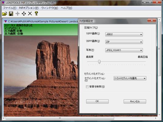 LEADTOOLS PDF Plug-In(日本語版) のスクリーンショット