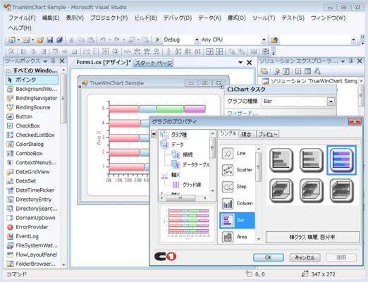 TrueChart for Windows Forms(日本語版) のスクリーンショット
