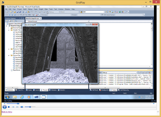 Captura de tela do DirectX 11 Programming