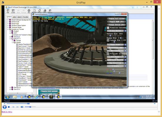 Captura de tela do Shader Programming