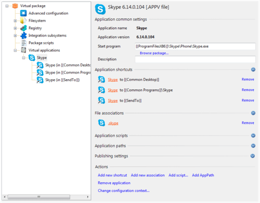 Screenshot of Application Virtualization Explorer