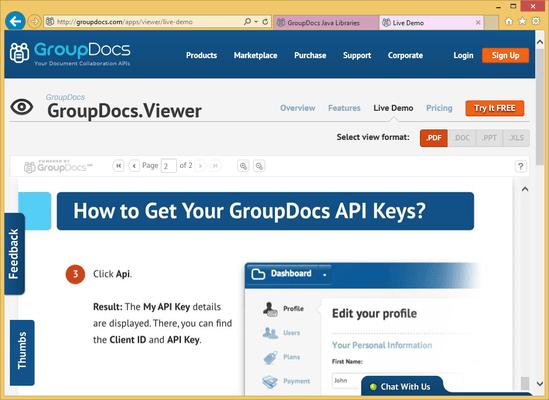GroupDocs.Viewer for Java のスクリーンショット